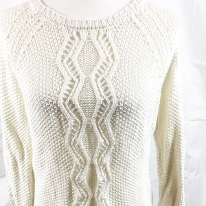 (7-006) Cynthia Rowley M 100% Cotton Sweater